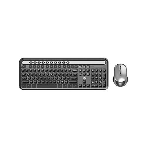 Kit Teclado + Mouse Sem Fio HP CS500 Preto - Layout ABNT2 Frequência de Banda ISM Mouse 1600 DPI - 5RB19PA