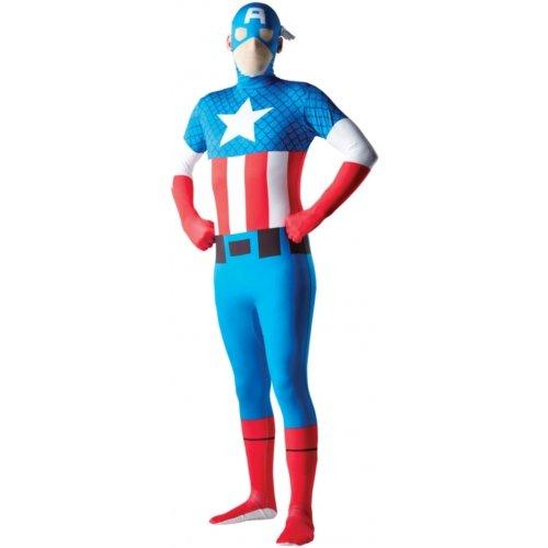 Aptafêtes - CS927536/L - Déguisement - Seconde Peau Captain America - Taille L