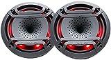 (2) Hifonics TPS-CX80 8' 300 Watt Marine/Boat LED Speakers w/Compression Horns