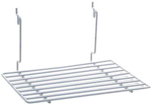 Count of 4 New White Flat shelf Fits Slatwall Grid Pegboard 12w x 8d