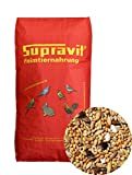 Supravit Agaporniden & Neophemafutter 25 kg, Körnermischung mit Saaten für Kleinpapageien und Sittiche