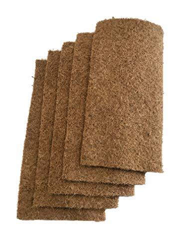 Tapis de culture composé à 100% de noix de coco, 50 x 25 cm, environ 7mm d'épaisseur, paquet de 5 (2,99 EUR/pièce), tapis adapté à la culture, cresson et germes de germes (microgreens), micro verdures