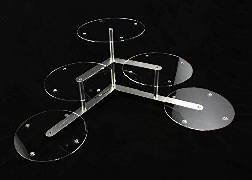 Aluminium Acryl Plexiglas Tortenetagere Tortenständer Rund Hochzeit 3 Etagen 5 Platten Ø 30 cm Etagere Buffet