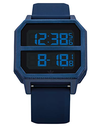 Adidas Unisex– Erwachsene Digital Quarz Uhr mit Kunststoff Armband Z16-605-00