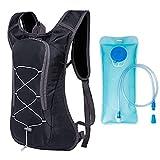 Mochila de Hidratación Ligero,Mochila con 2L Bolsa de Agua para Mujer y Hombre,8L...