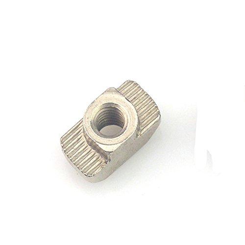 10 piezas T tuerca martillo conector de sujeción M3 / M4 / M5 / M6 / M8 extrusiones de aluminio serie 20/30/40/45 ranura T-tuerca deslizante-M4,20