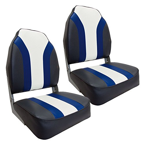 Waterside2er Set High Back Pro Bootssitz (Boat Seat) Blueline
