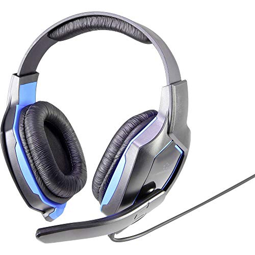 Renkforce RF-GHD-100 Gaming Headset 3.5mm Klinke schnurgebunden On Ear Schwarz, Blau