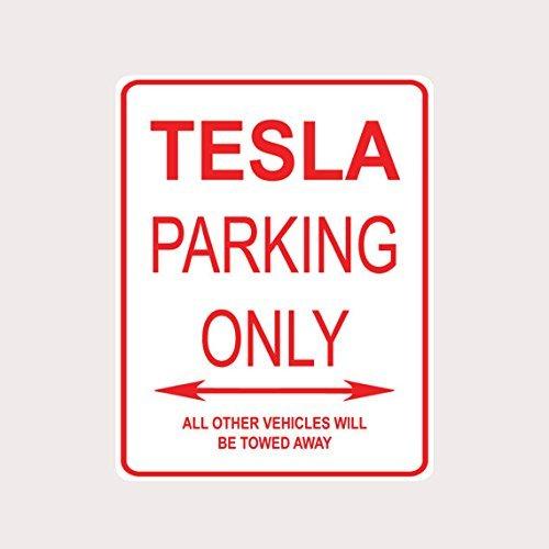Tesla Parkplatz Schild