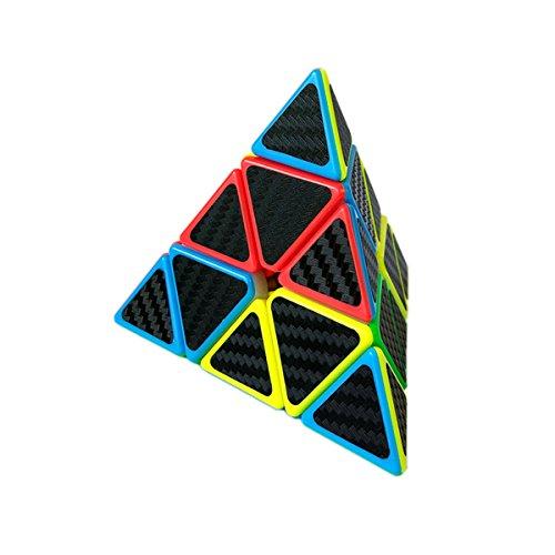 EasyGame Pyraminx Cube, Fibra de Carbono Cubo mágico Rompecabezas