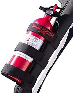 Badass Moto Fire Extinguisher Mount for Jeep Roll Bar - Easy 1 Min. Install with No Tools Fits JK JKU JL TJ CJ - Stainless Hardware. Wrangler Accessories. Jeep Lover Gifts. Extinguisher not Included