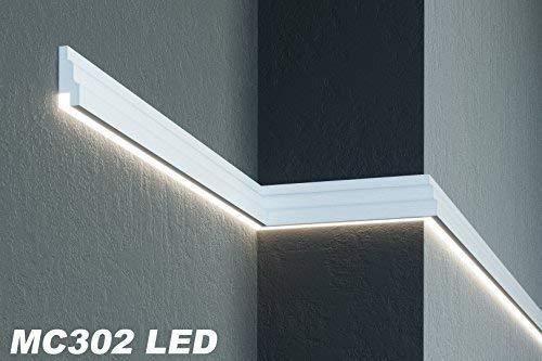 2 Meter   Fassade   LED Stuck   EPS   PU   wetterfest   35x85mm   MC302