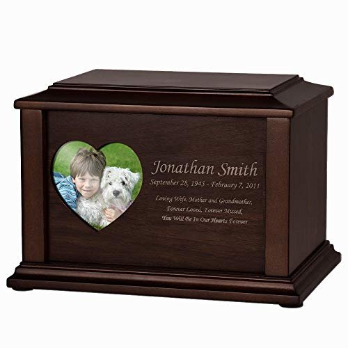 Perfect Memorials Custom Engraved Large Adoration Photo Cremation Urn