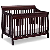 Delta Children Canton 4-in-1 Convertible Crib - Easy to Assemble, Espresso Cherry