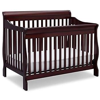 Delta Children Canton 4-in-1 Convertible Crib - Easy to Assemble Espresso Cherry