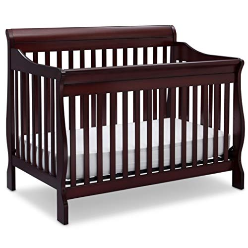 Review Delta Children Canton 4-in-1 Convertible Baby Crib, Espresso Cherry