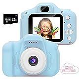 APSONAR 2020 Nueva Cámara para Niños, Cámara de Fotos/Video HD 1080p Cámara Digital para Piños, Pantalla LCD de 2 Pulgadas/Tarjeta 32G (Blue-1)