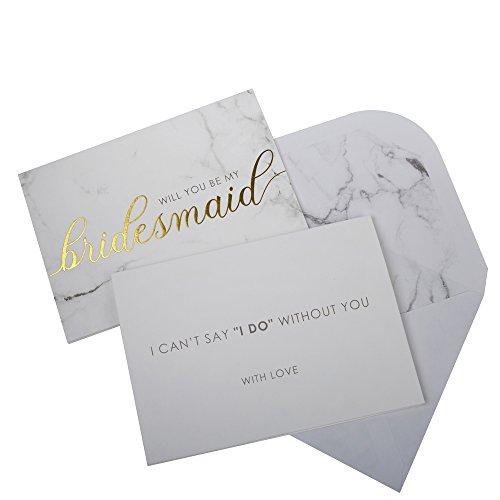 Neviti Scripted Marble Brautjungfern-Einladungen, Marmor