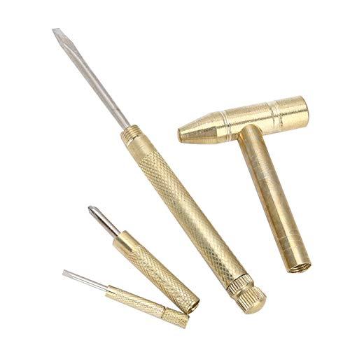 Langlebig Bequem zu halten Kupferhammer, Schmuckhammer, Mini Hammer Weich und Hart Dual Use für Uhrmacher Home Use Professional Use Watch Chain Adjust