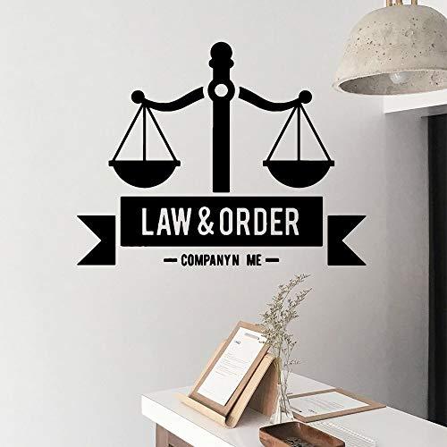 Tianpengyuanshuai Lustiges Law and Order Wandtattoo Wandaufkleber Material Wohnzimmer Kinderzimmer Wandbild Poster 42x54cm