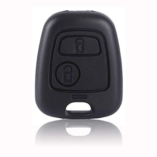 salpie Carcasa cáscara Llave Mando a Distancia para Toyota Citroen C1C2C3C4Xsara Saxo Berlingo Picasso y Peugeot 107207307407106206306406(2Botones)