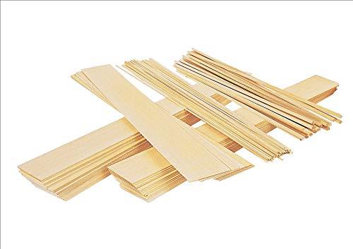 2 fogli di legno balsa da 50 mm, spessore 5 mm, lunghezza 150 mm.