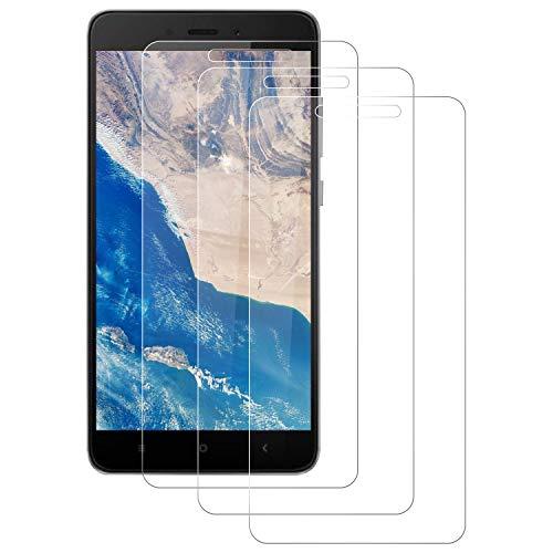 PUUDUU Protector de Pantalla para Xiaomi Redmi 4X, [3 Pack] Cristal Templado para Xiaomi Redmi 4X, Vidrio Templado, Dureza 9H, Alta Definición, Sin Burbujas