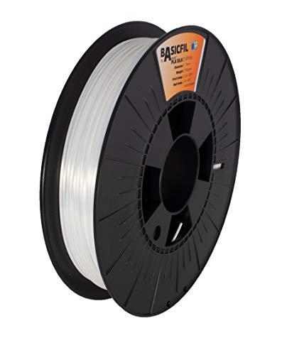 BASICFIL PLA SILK 1.75mm, 500 gr, 3D Drucker Filament, Weiß