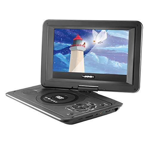 YChoice365 Lettore DVD portatile, 13,9 pollici 110-240 V Hd TV Lettore DVD portatile Risoluzione 800 * 480 Risoluzione 16: 9 Schermo Lcd Suono gratuito con telecomando per lettori DVD