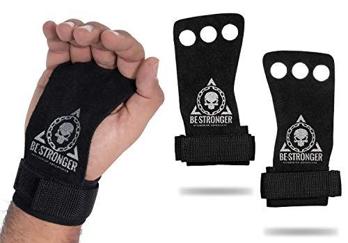 Luvas Crossfit Grip Pull Up Lpo Hand Grip couro natural Profissional VENUS (M)