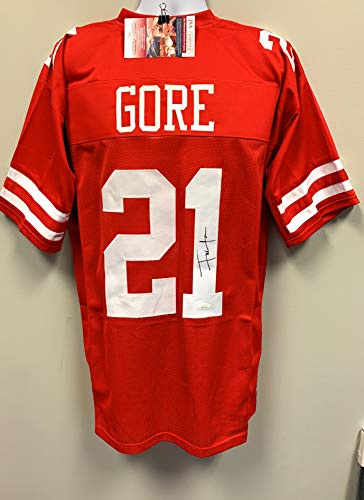 Frank Gore San Fransico 49ers Signed Autograph Custom Jersey RED JSA Witnessed Certified