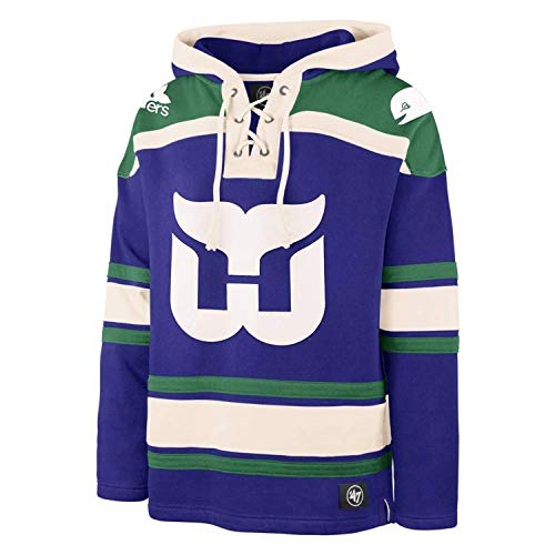 '47 Hartford Whalers Heavyweight Jersey Lacer Hoodie - Large