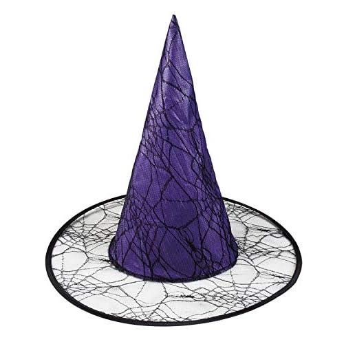 Boland 00817 - Cappello per Bambini, Motivo: Strega Wicca, Colore: Lilla/Nero