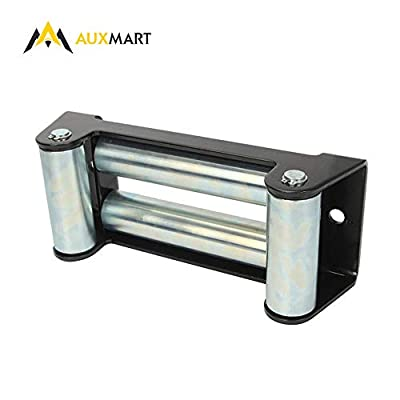 """AUXMART Winch Roller Fairlead for Steel Cable 10"""" Bolt Pattern"""