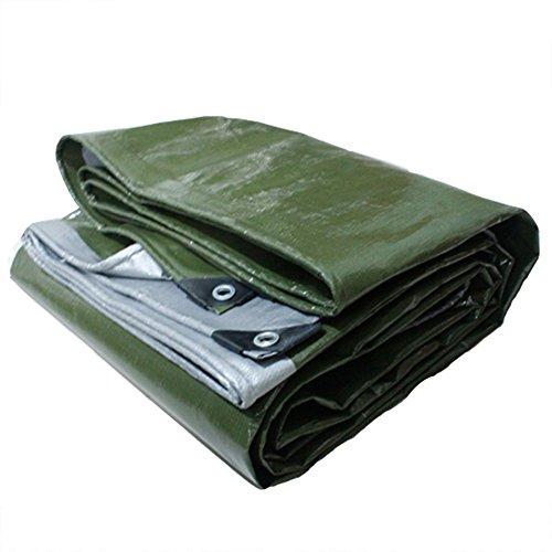 Dongyd Bâches résistante imperméable à l'eau Verte à 100% et polyéthylène à Haute densité et Double stratifiée (Couleur : Green+Silver, Taille : 5x7m)