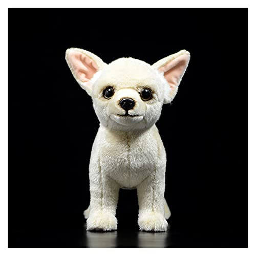 XUXFANG Plüschspielzeug Original Chihuahua Hund Mini Hund Kinder ausgestopfte Plüschtiere Sahne Nette Schöne Kind Geschenk Lebensleine Füllung Tier Puppe Pudel Geschenk