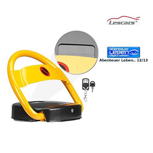 Lescars Parksperre: Automatische Solar-Parkplatzsperre mit Fernbedienung (Parkbügel)