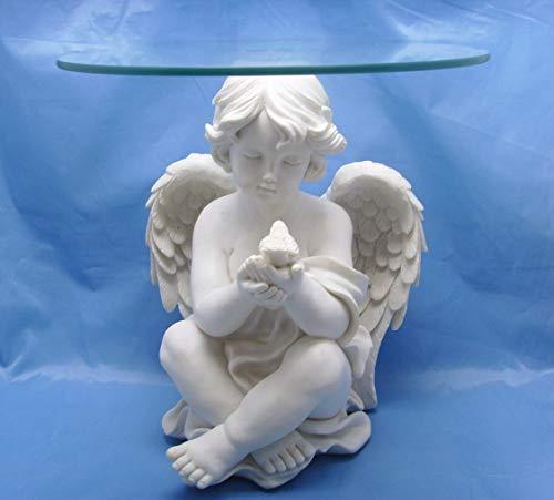 Féeries et merveilles Statuette Ange, Table Basse Ange (HT 39 x L 38cm), Porte Plante Ange, Figurine Ange
