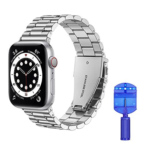 VOFOLEN Cinturino Compatibile con Apple Watch, Metallo Cinturini in Acciaio Inossidabile Sostituzione per iWatch Serie SE 6 5 4 3 2 1,scheggia,38mm