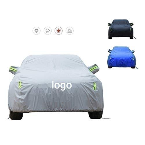 Autoplanen Car-Cover kompatibel mit Autoabdeckung Ford Fiesta, Full-Size-wasserdicht hitzebeständig winddichte Außenfahrzeugabdeckung mit Aufbewahrungstasche ( Color : Gray , Size : 3980*1722*1470mm )
