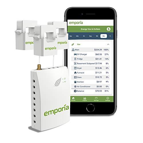 Beauty-Design Monitor de energía para el hogar inteligente Emporia Vue de 3 fases Gen 2