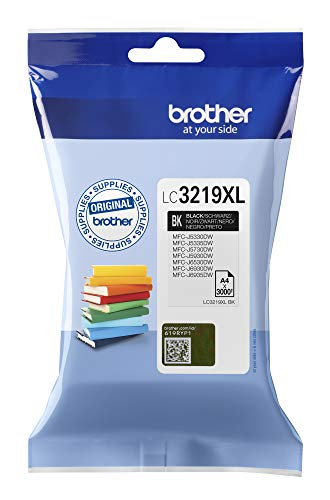 Brother LC3219XLBK Cartucho de tinta negro original de larga duración para las impresoras MFCJ5330DW, MFCJ5730DW, MFCJ5930DW, MFCJ6530DW, MFCJ6930DW y MFCJ6935DW