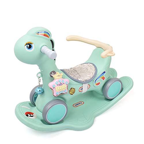 Carro de bebe Caballo Mecedora de los niños PP de Doble Uso bebé de múltiples Funciones bebé Edad Regalo Cuna Columpio Paseo a Caballo