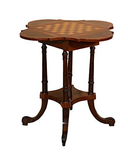 Biscottini Table de jeu en bois avec plateau à égouttoir, L 26 x P 70 x H 32 cm