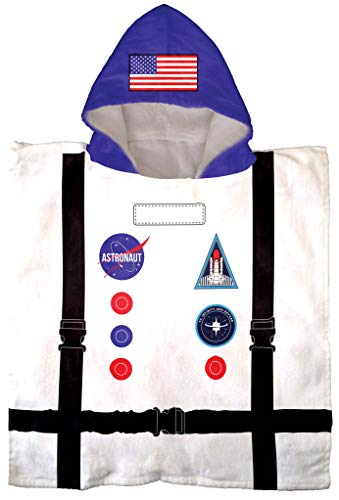 Jay Franco Trend Collector Astronaut Bath/Pool/Beach Hooded Poncho Towel - Super Soft & Absorbent Cotton Towel, Measures 22 Inch x 22 Inch