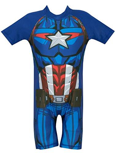 Marvel Avengers - Costume da Bagno per Ragazzi - Capitan America - 3-4 Anni