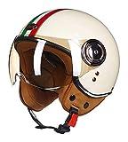 GaLon Adulto motocicleta abierta de la cara del casco de ECE Aprobado retro Harley Casco Medio casco for la motocicleta de carreras del piloto de jet Casco de motocross Vespa del ciclomotor del crucer