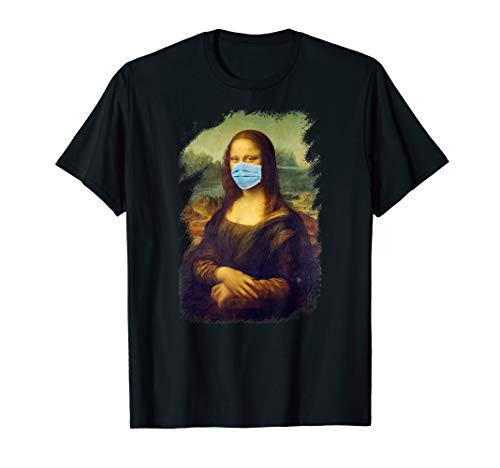 Gesichtsmaske Mona Lisa - Leonardo Da Vinci Mundschutz Maske T-Shirt