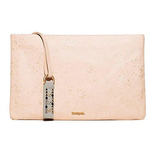 Desigual Bag Donna Macau Metallic Splatter Rosa U Rosso