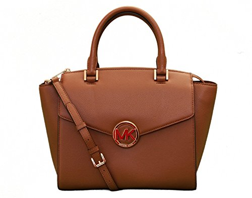 Michael Kors Hudson Large Leather Satchel - Luggage